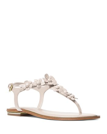 MICHAEL Michael Kors - MICHAEL Michael Kors Women's Tricia Leather Thong Sandals