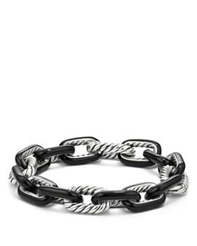 David Yurman - Madison Chain Enamel Large Bracelet in Black