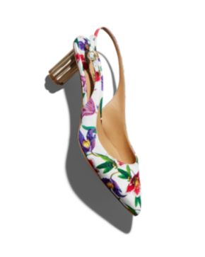 Salvatore Ferragamo Women's Floral Slingback Pumps - 100% Exclusive lVjFYWDN