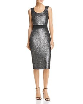 Boutique Moschino - Metallic Sparkling Sheath Dress