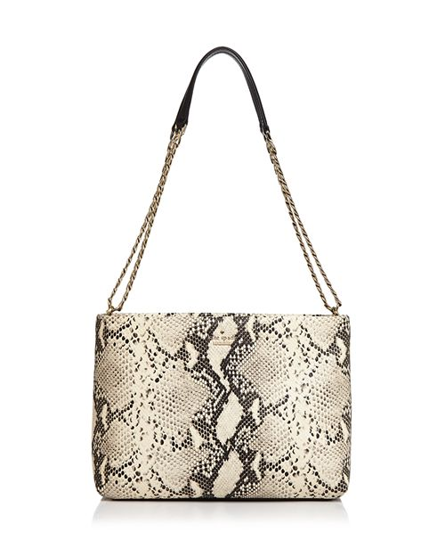 kate spade new york - Emerson Lorie Snake-Embossed Leather Shoulder Bag