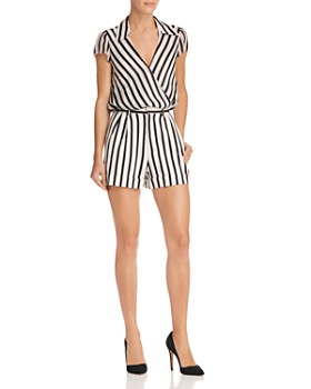 Alice and Olivia - Conry Pleated Striped Shorts