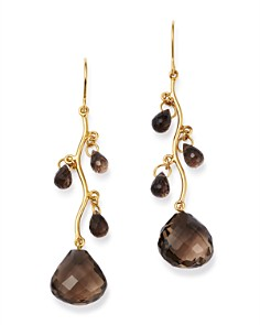 Bloomingdale's - Smoky Quartz Chandelier Earrings in 14K Yellow Gold - 100% Exclusive