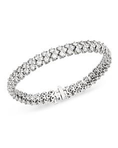 Bloomingdale's - Diamond Woven Link Tennis Bracelet in 14K White Gold, 7.0 ct. t.w. - 100% Exclusive