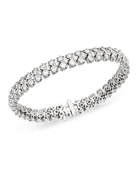 Bloomingdale's - Diamond Woven Link Tennis Bracelet in 14K White Gold, 7.0 ct. t.w. - 100% Exclusive