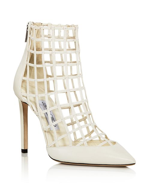 Jimmy Choo - Women's Sheldon 100 Caged Leather High-Heel Booties