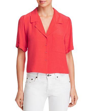 AQUA - Cropped Pajama Shirt - 100% Exclusive