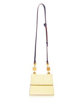 Marni - Small Color-Block Leather Satchel