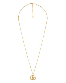 Gucci - 18K Yellow Gold Running G Pendant Necklace, 23.5""