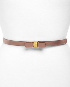 Salvatore Ferragamo Vara Skinny Leather Belt - Bloomingdale's_0