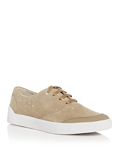 BOSS - Men's Zero Paint Splattered Suede Lace Up Sneakers