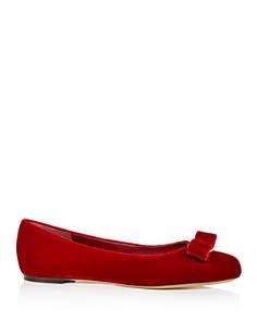 Salvatore Ferragamo - Women's Varina Velvet Ballet Flats