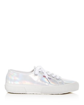 Superga - Women's Cotu Classic Hologram Lace Up Sneakers