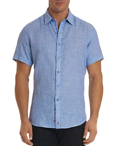 Robert Graham - Gills Linen Regular Fit Button-Down Shirt