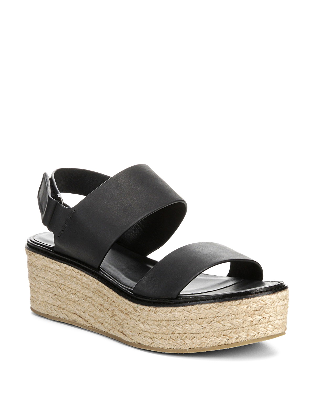 Vince Women's Janet Leather Platform Wedge Sandals
