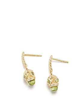 David Yurman - Renaissance Drop Earrings with Peridot in 18K Gold
