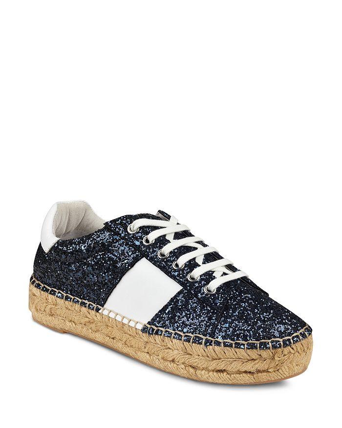 Marc Fisher LTD. - Women's Margo2 Glitter Leather Lace-Up Espadrille Sneaker