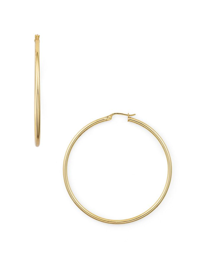 AQUA - Medium Hoop Earrings in 18K Gold-Plated Sterling Silver or Sterling Silver - 100% Exclusive