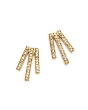 Moon & Meadow - Diamond Triple Bar Earrings in 14K Yellow Gold, 0.20 ct. t.w. - 100% Exclusive