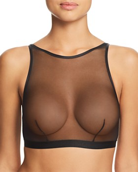 Cosabella - Show Off High-Neck Sheer Mesh Bralette