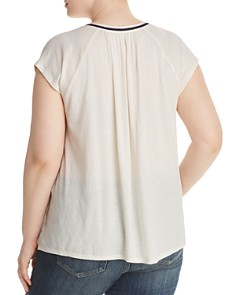 Lucky Brand Plus - Floral-Embroidered Top