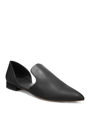 VINCE Damris Two-Piece Siviglia Leather Loafer Flat in Black