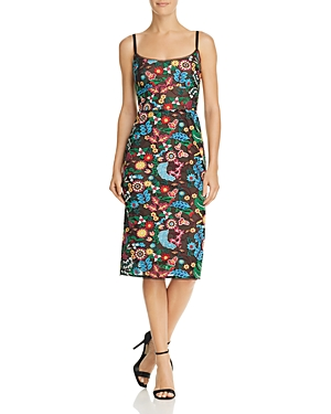 Bcbgmaxazria Embroidered Sheath Dress