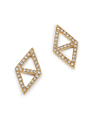 Kc Designs 14K Yellow Gold Double Triangle Diamond Earrings