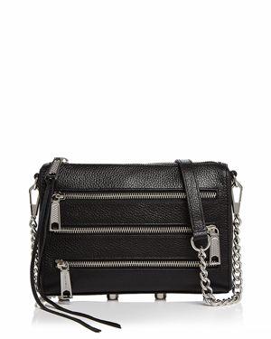 Rebecca Minkoff Mini Five Zip Leather Crossbody 2981816