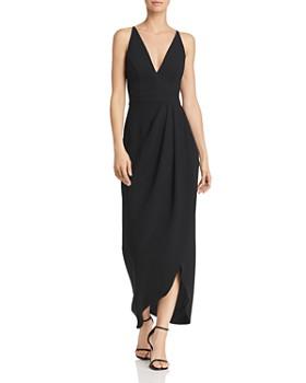 AQUA - Draped Crepe Midi Gown - 100% Exclusive