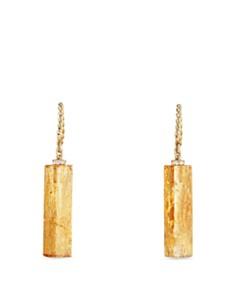 David Yurman - Bijoux Fine Bead & Chain Earrings with Imperial Topaz