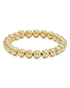 AQUA - AQUA Beaded Stretch Bracelet in 18K Gold-Plated Sterling Silver or Sterling Silver - 100% Exclusive