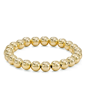 Beaded Stretch Bracelet in 18K Gold-Plated Sterling Silver or Sterling Silver