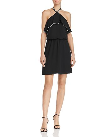 WAYF - Velletri Ric Rac Halter Dress