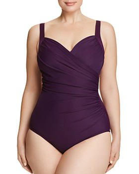 Miraclesuit Plus - Plus Solid Sanibel One Piece Swimsuit