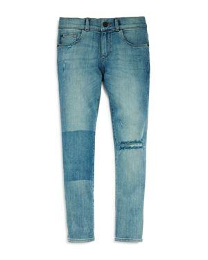 DL1961 Boys' Contrast Distressed Skinny Jeans - Big Kid