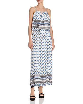 cf80f6b0a74 AQUA - Tile Print Maxi Dress - 100% Exclusive