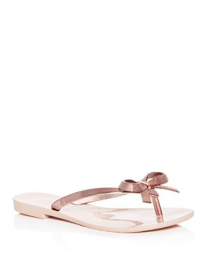 MELISSA Harmonic Chrome Ii Jelly Thong Sandals in Rose Gold