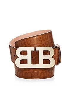 Bally Logo Embossed Leather Belt - Bloomingdale's_0