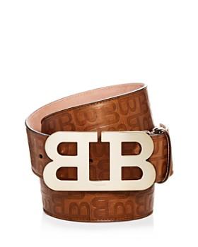 Bally - Men's Mirror B Buckle Embossed Leather Belt