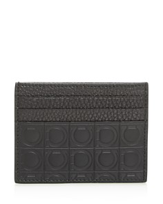Salvatore Ferragamo - Embossed Leather Card Case