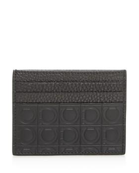Salvatore Ferragamo - Embossed Leather Card Case