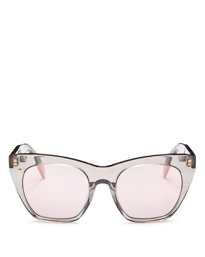 rag & bone - Women's Mirrored Cat Eye Sunglasses, 52mm