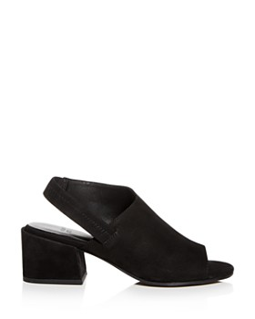 Eileen Fisher - Women's Tumbled Nubuck Leather Slingback Block-Heel Sandals