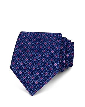 The Men's Store at Bloomingdale's Linked Floret Circles Classic Tie - 100% Exclusive