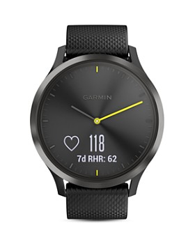 Garmin - vívomove® HR Sport Hybrid Black Smartwatch, 43mm