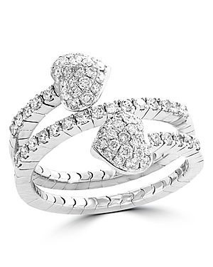 Bloomingdale's Diamond Heart Wrap Ring in 14K White Gold, 0.70 ct. t.w. - 100% Exclusive