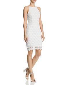 AQUA - Scalloped Lace Body-Con Dress - 100% Exclusive