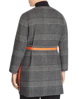 Marina Rinaldi - Notte Reversible Double-Faced Plaid Coat