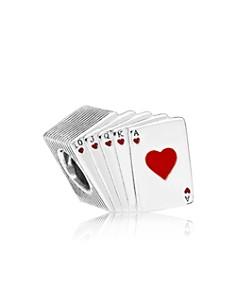 PANDORA Sterling Silver & Enamel Playing Cards Charm - Bloomingdale's_0